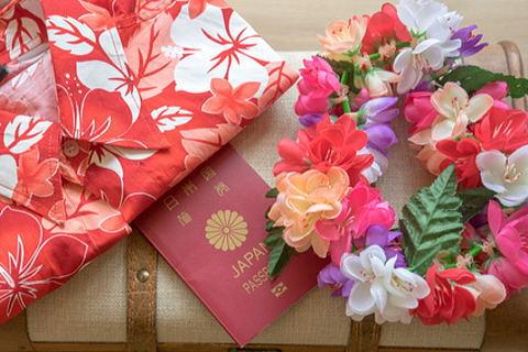 アロハとムームーを日本で用意してハワイに出発!