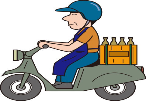 ビールを配達する酒屋さん