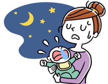 鼻が詰まって寝つきの悪い赤ちゃん・・・。