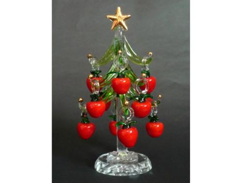 ガラス製りんごのクリスマスツリー