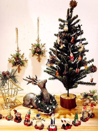 HUGセレクトクリスマスオーナメント テーブルツリー 40cm