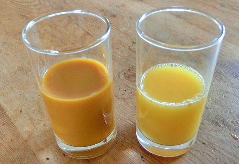 豊潤サジーとオレンジジュースを混ぜてみた