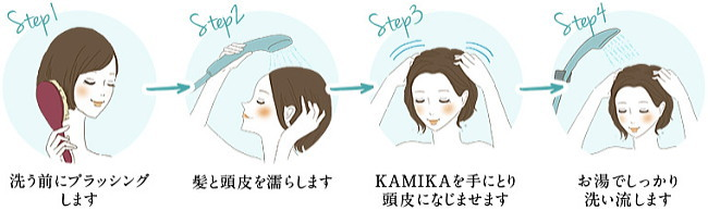 kamikaクリームシャンプーの使い方