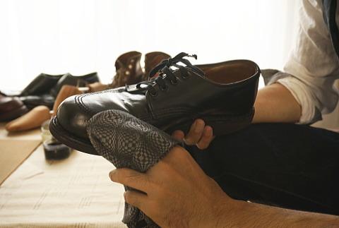 ラナパー レザートリートメント で靴磨き