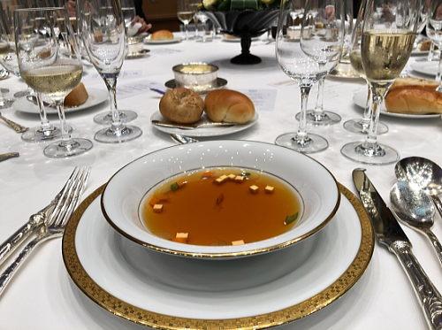 帝国ホテルの絶品コンソメスープ