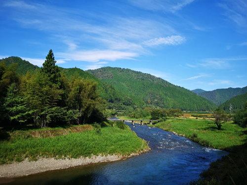 四万十川が流れる高知県高岡郡中土佐町大野見地区の美しい風景