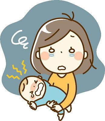生後1か月~2ヶ月までの連夜の夜泣きで疲労困憊のママ