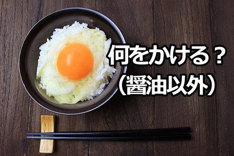 卵かけご飯に合う醤油以外の調味料やたれって何?
