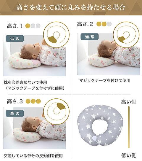 エスメラルダ ドーナツ枕の高さを調整して絶壁頭や向き癖も防ぐ