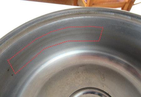 鉄錆の付いた鍋